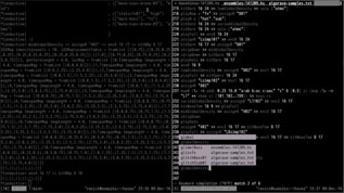 Live coding screencast test in an experimental drum and bass algorave style, December 9, 2014
