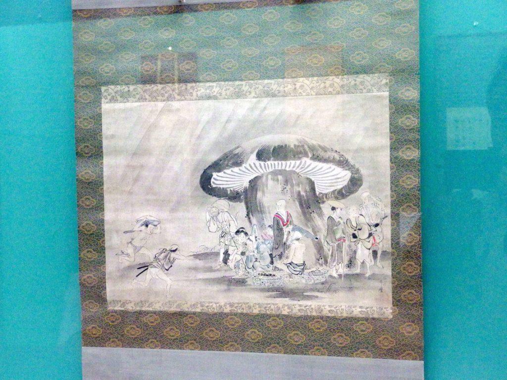 喜多川歌麿《雨宿り図》