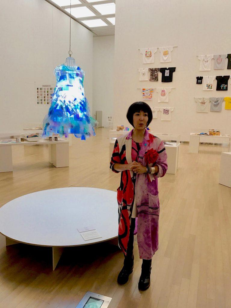 女優の東ちづるさんは、この展覧会の企画アドバイザー。「ここからひろがるLIFE」のエリアの展示を担当している