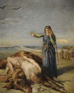 テオドール・シャセリオー《気絶したマゼッパを見つけるコサックの娘》(1851年、 ルーヴル美術館蔵、ストラスブール美術館寄託) Photo©Musées de Strasbourg, Mathieu Bertola)