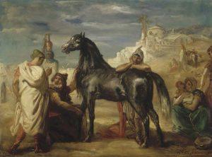テオドール・シャセリオー《雌馬を見せるアラブ人の商人》(1853年、 ルーヴル美術館蔵、リール美術館寄託) Photo©RMN-Grand Palais / Jacques Quecq d'Henripret / distributed by AMF)