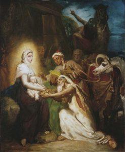 テオドール・シャセリオー《東方三博士の礼拝》(1856年、プティ・バレ美術館蔵 © Petit Palais/Roger-Viollet)