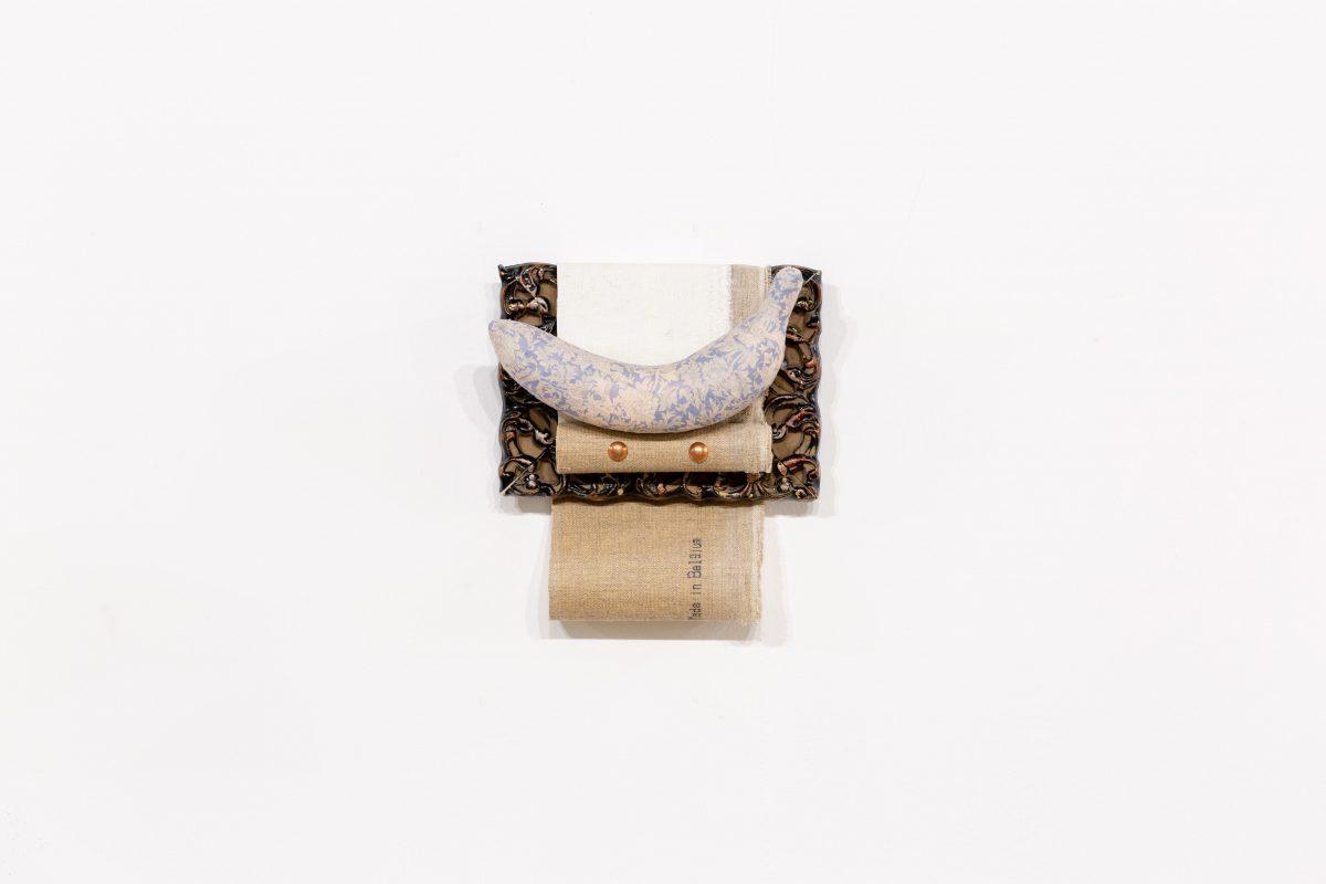 『William Banana』 wood, tape, nail, canvas, vinyl    170×180mm  2019