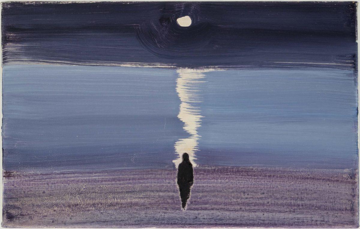「Wanderer」<br /> 2020年 油彩、キャンバス 35×55cm