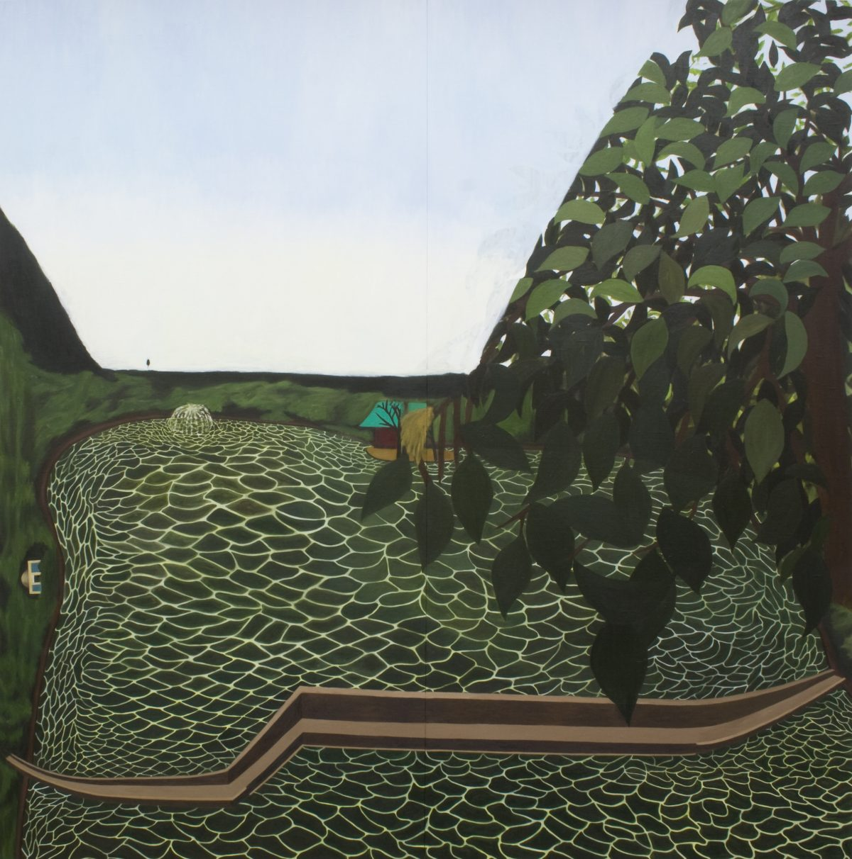絵が見る世界 11_03<br /> 2011, キャンバスに油彩・パネル, 242.0 x 242.0cm<br /> 第一生命保険株式会社蔵