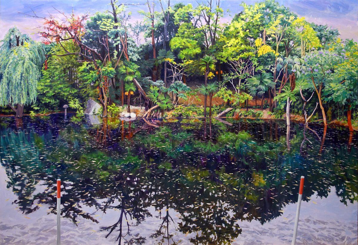 Pond01<br /> Oil on canvas<br /> 1620×1120mm<br /> (2018)