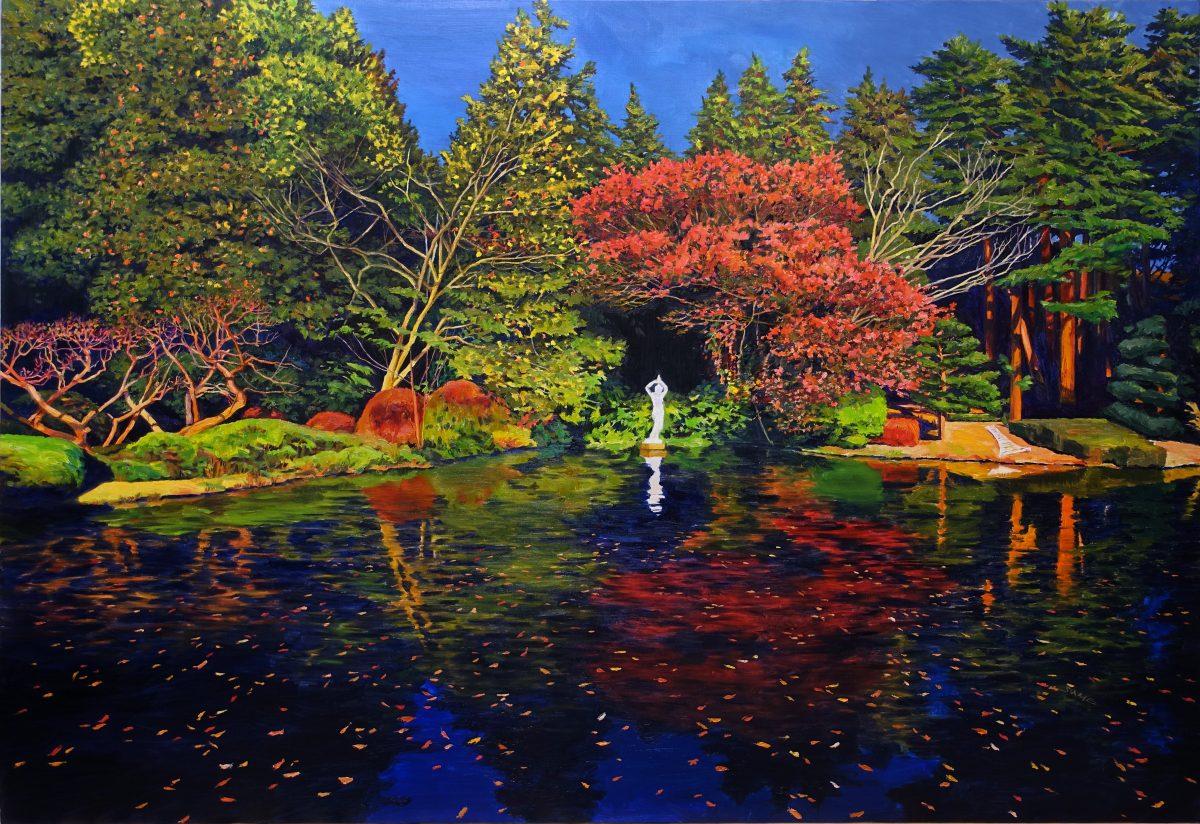 Pond02<br /> Oil on canvas<br /> 1620×1120mm<br /> (2018)