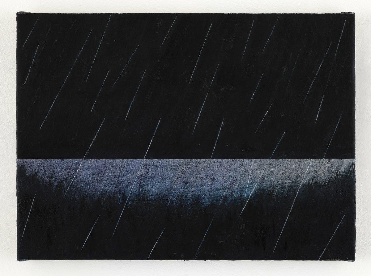 「Rain」<br /> 2021年油彩、キャンバス 24.2×33.3cm