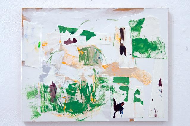 Suite concarnoise   木製パネル、紙、アクリル、パステル 31.8 x 41 cm  2016年