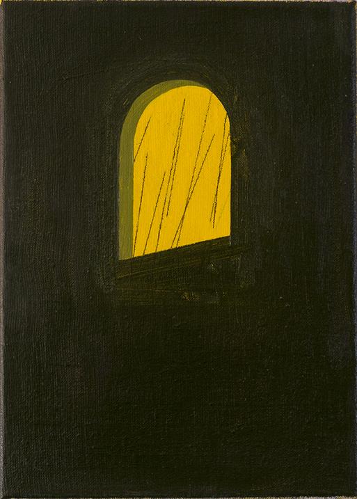 「Window」<br /> 2018年油彩、キャンバス 28×20cm