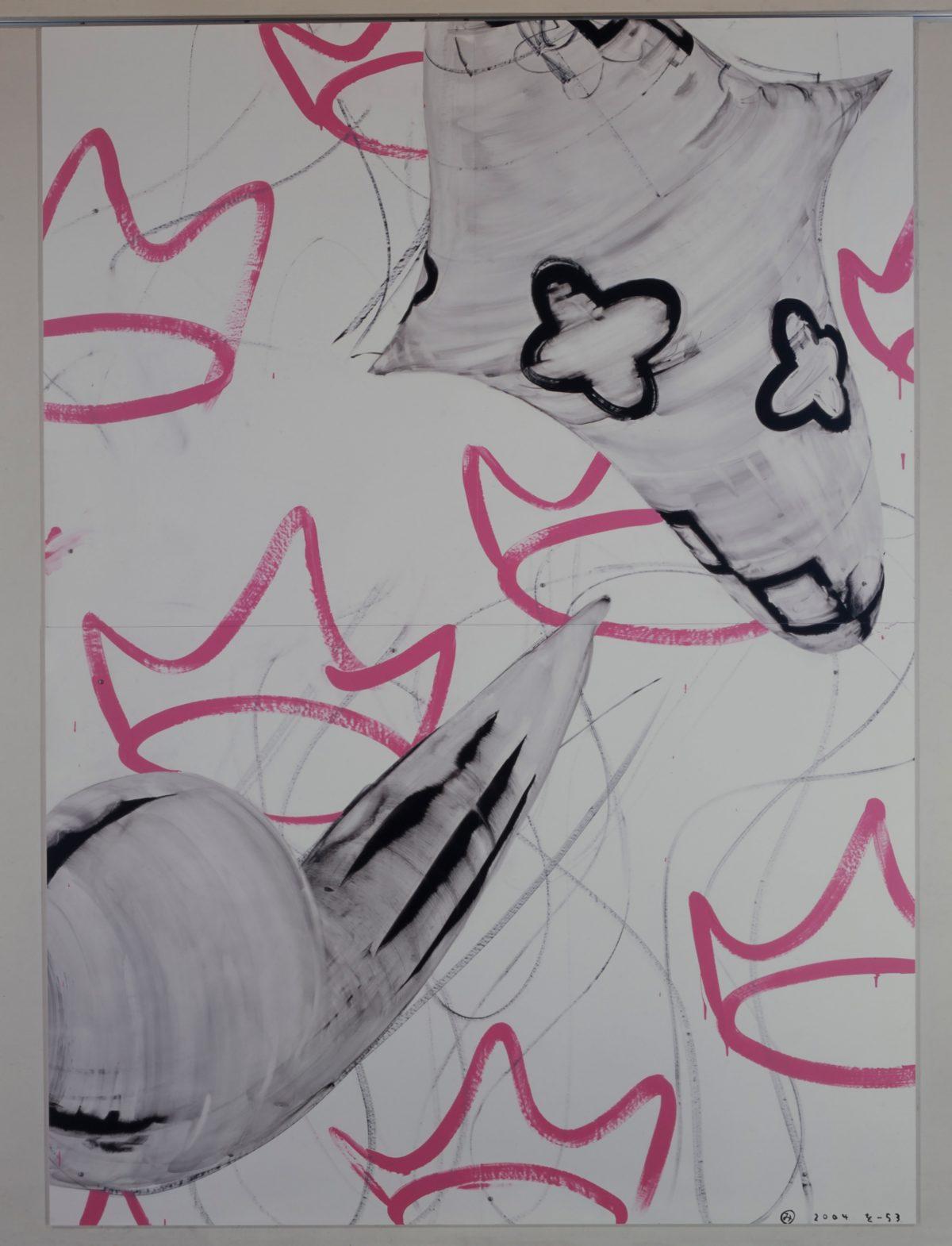 をー53|2004年, グアッシュ、アクリル絵の具、合成紙, 218×157㎝