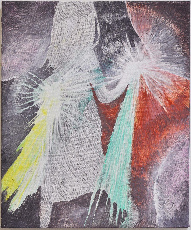 《Hands》2012,46x38cm,綿布に油彩