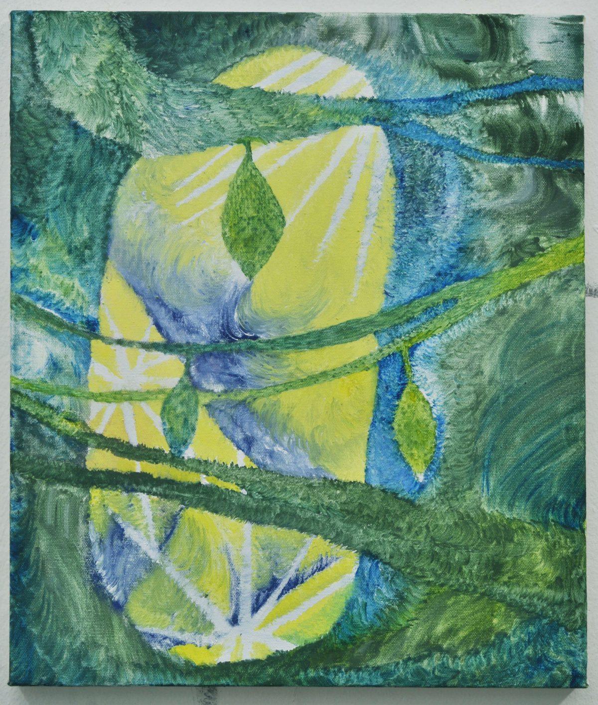 《Window》2010,55x47cm,綿布に油彩