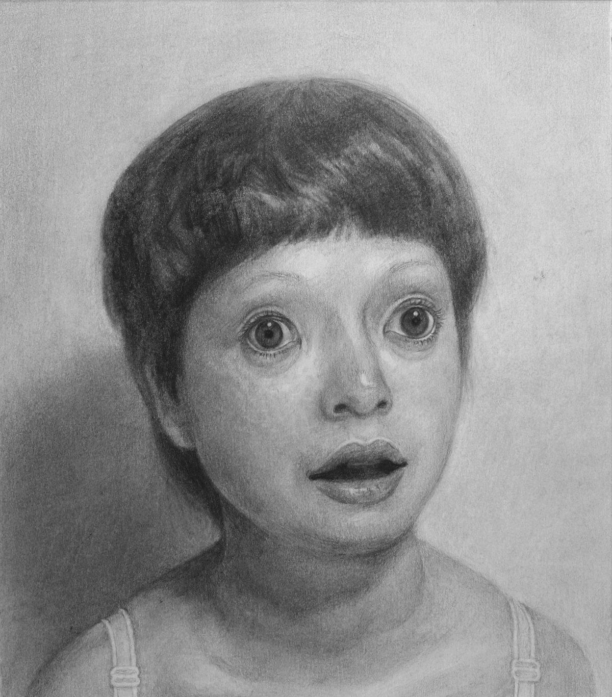 心根の優しい娘 20.5×17.8cm ケント紙 鉛筆 2006年