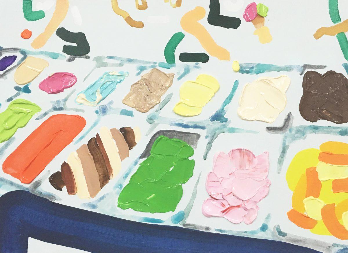 ice cream 455x530 キャンバス、アクリル 2018