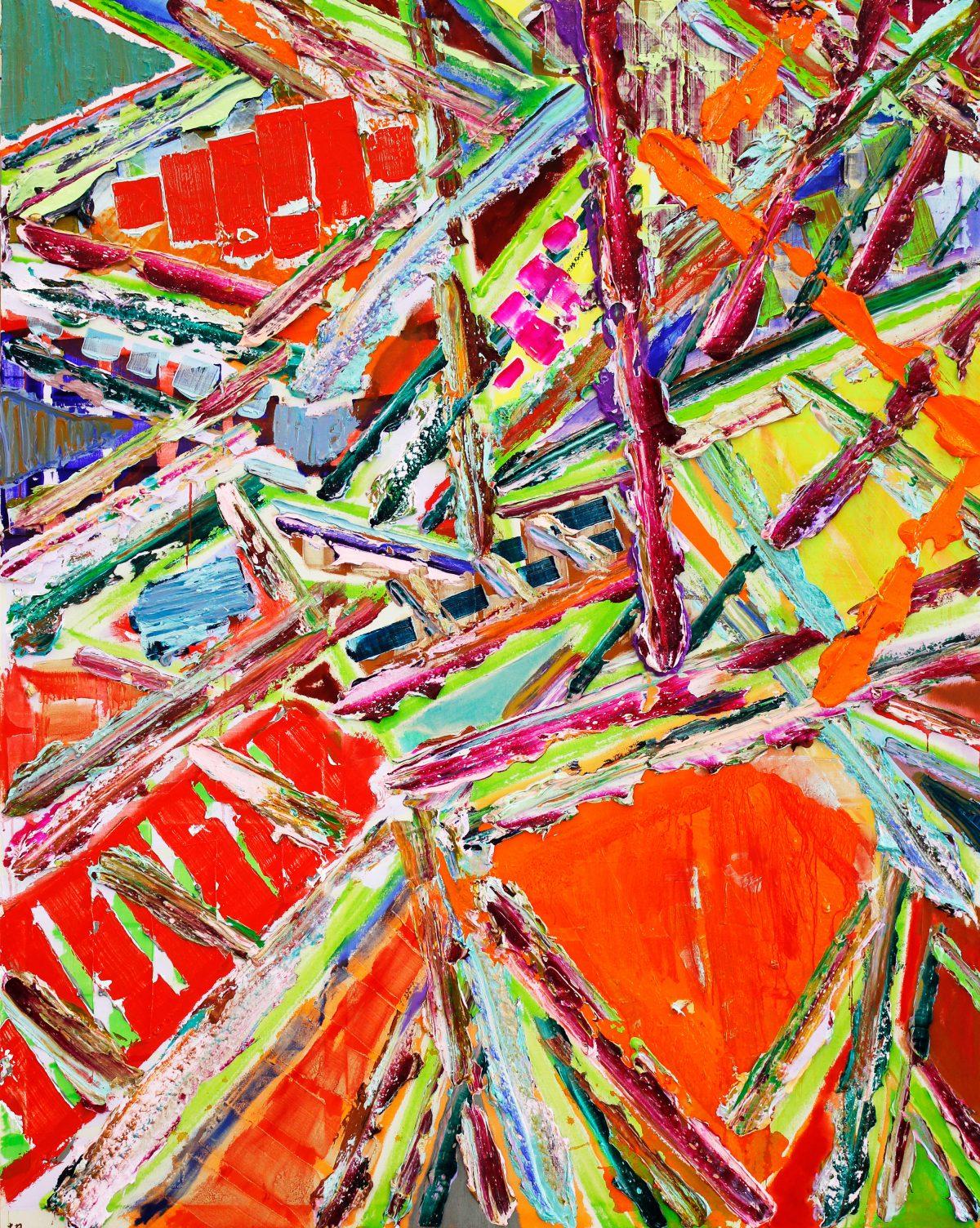破庵51(黒佛木) アクリル、227.3×181.8cm、2018~19年