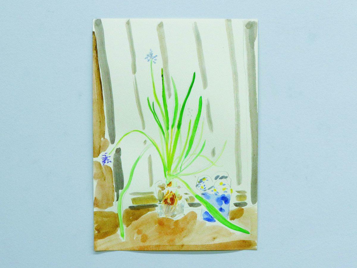 窓際のくちづけarcrylic on paper29.2*21cm2019