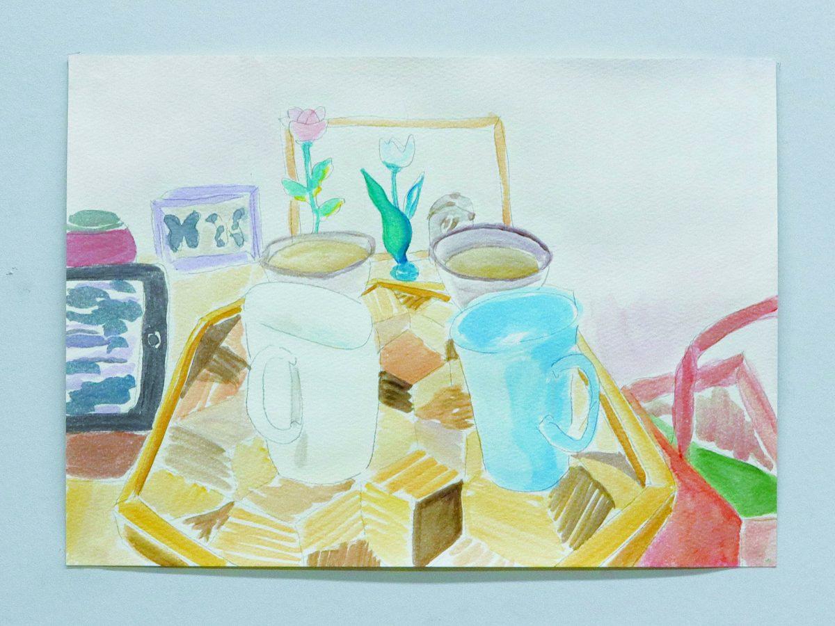 二人に四つarcrylic on paper21*29.2cm2019