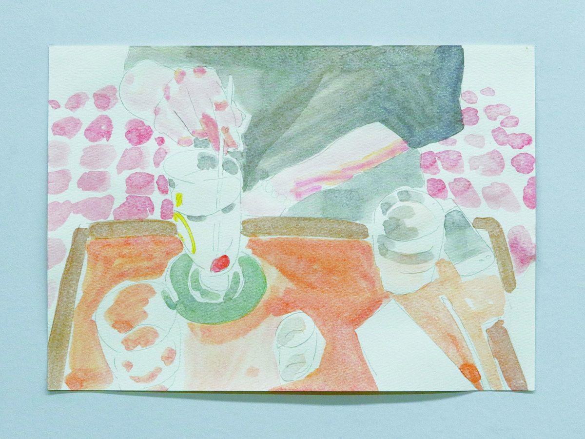 珈琲タイムスarcrylic on paper21*29.2cm2019
