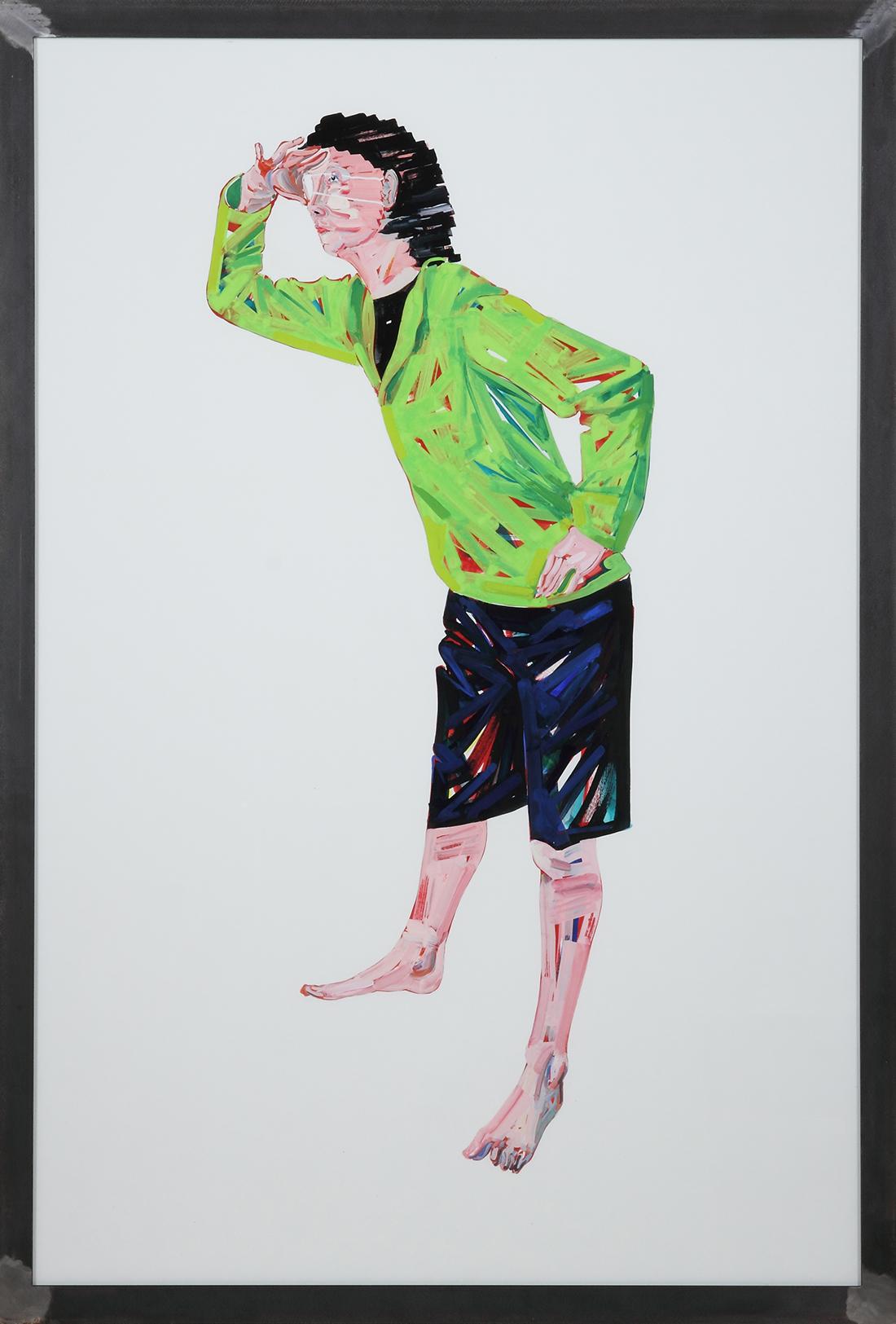 ミルコ<br /> 2013  紙にアクリルガッシュ、顔料、ガラス、鉄<br /> 171×120×5cm  <br /> ©O JUN, Courtesy of Mizuma Art Gallery<br /> 撮影:宮島径