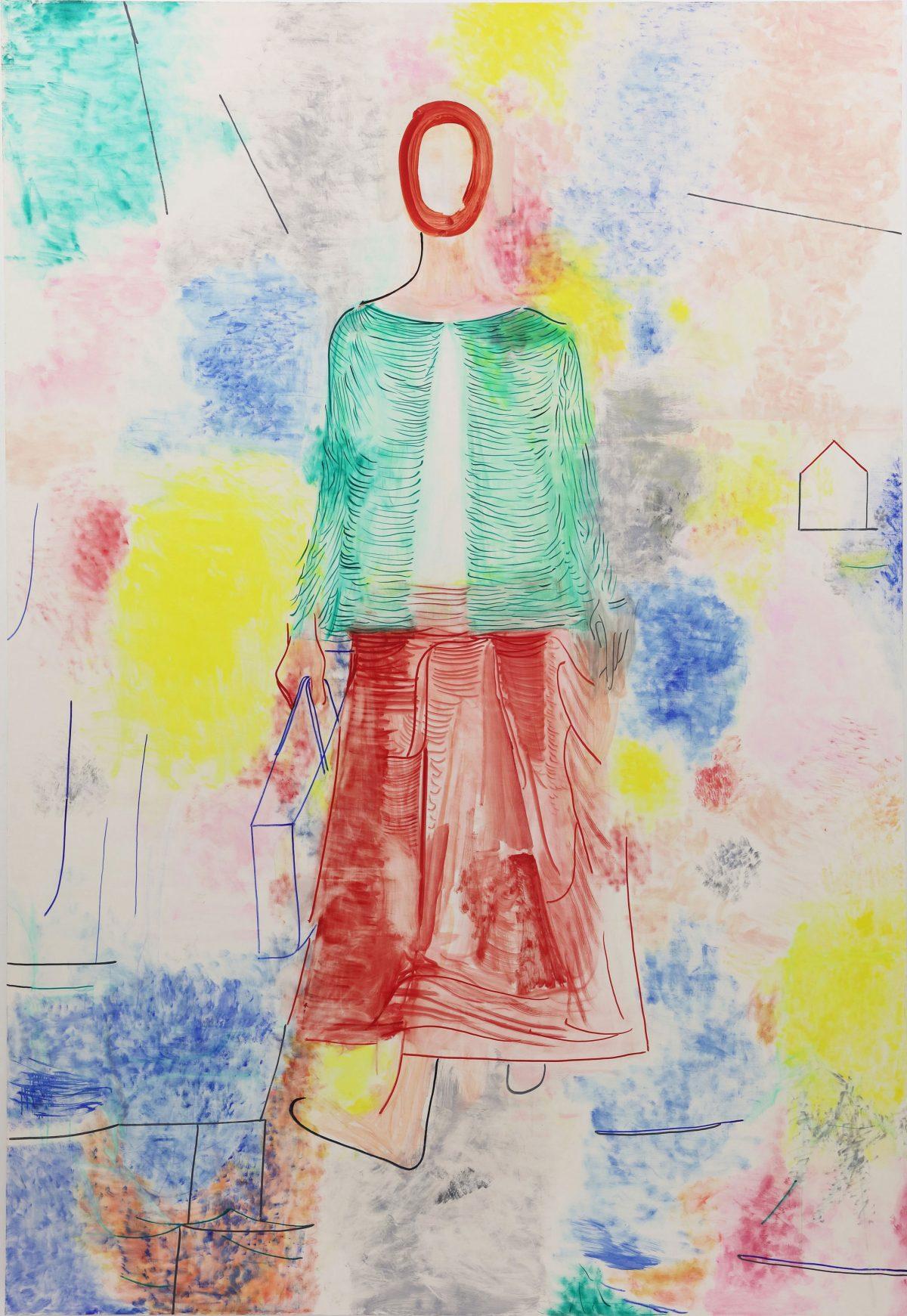 美しき天然<br /> 2019  キャンバスに油彩<br /> 350×240cm  <br /> ©O JUN, Courtesy of Mizuma Art Gallery<br /> 撮影:宮島径