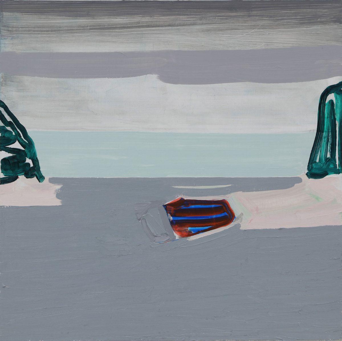 陸海空<br /> 2019  キャンバスに油彩<br /> 72,7×72,7cm  <br /> ©O JUN, Courtesy of Mizuma Art Gallery<br /> 撮影:宮島径